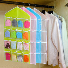 Load image into Gallery viewer, 16-Clear-Pockets-Hanging-Storage-Organizer-Green-Buy-One-Get-Two  - Kwikibuy Amazon Global