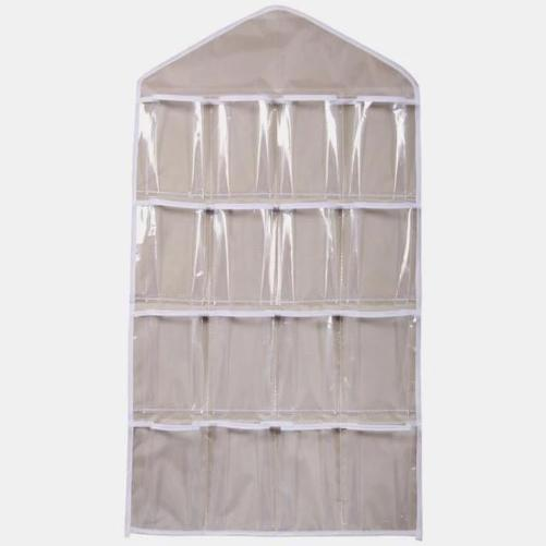 Shop-Now-16-Clear-Pockets-Hanging-Storage-Organizer-Beige-Kwikibuy.com-Household-Goods-Shoes