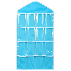 16-Clear-Pockets-Hanging-Storage-Organizer-Blue-Buy-One-Get-Two  - Kwikibuy Amazon Global