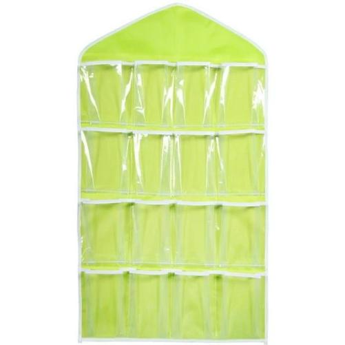 Shop-Now-16-Clear-Pockets-Hanging-Storage-Organizer-Green-Kwikibuy.com-Household-Goods-Shoes