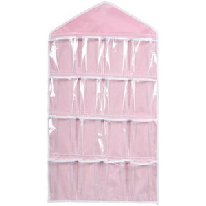 16-Clear-Pockets-Hanging-Storage-Organizer-Beige-Buy-One-Get-Two  - Kwikibuy Amazon Global