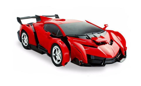 2 In 1 Radio Control Transformation Sports Car Robot With Remote Control (Red) - Kwikibuy.com™® Official Site