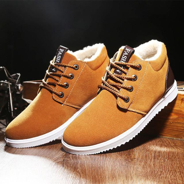 Lo-cut Soft Leather Winter Shoes (Yellow) | Kwikibuy Amazon Global | United States | All | Men | Breathable | Leather | Suede | Dress | Shoes