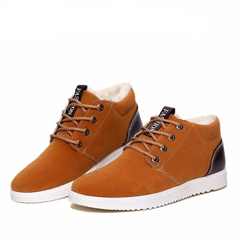 Men's Lo-cut Soft Leather Winter Shoes $34.99 (Yellow) - Kwikibuy.com™® Official Site~Free Shipping