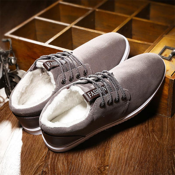Lo-cut Soft Leather Winter Shoes (Grey) | Kwikibuy Amazon Global | United States | All | Men | Breathable | Leather | Suede | Dress | Shoes