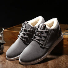 Load image into Gallery viewer, Lo-cut Soft Leather Winter Shoes (Grey)  - Kwikibuy Amazon Global