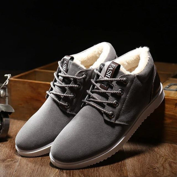 Lo-cut Soft Leather Winter Shoes (Grey)  - Kwikibuy Amazon Global