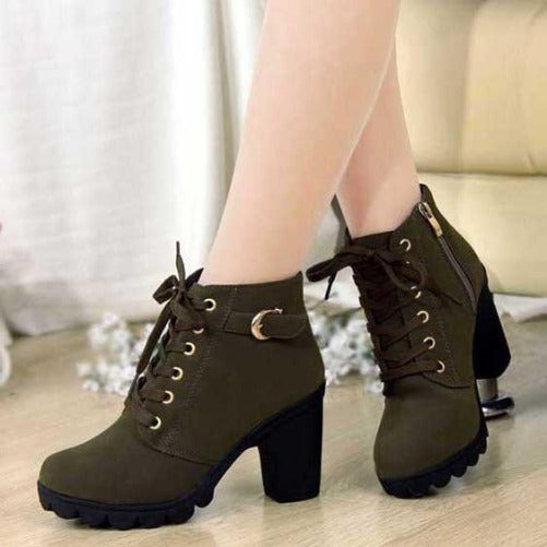Shop-Now-Comfortable-Soft-Leather-Platform-Heel-Boots-Green-Kwikibuy.com-Women-All-Footwear-It's-Fashion-Boots-Shoes