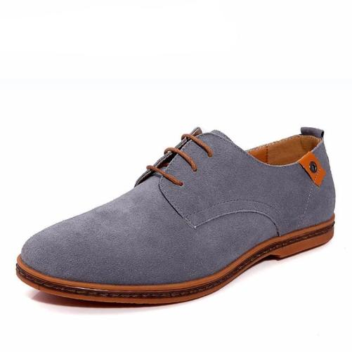 Breathable Leather Shoes (Grey) | Kwikibuy Amazon Global | Men | Leather | Suede | Shoes