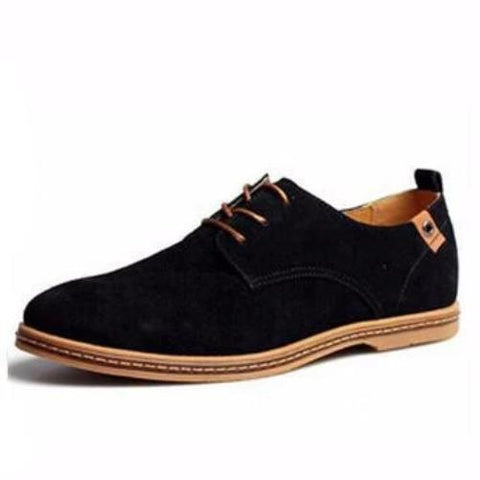 Breathable-Leather-Shoes-Black  - Kwikibuy Amazon Global