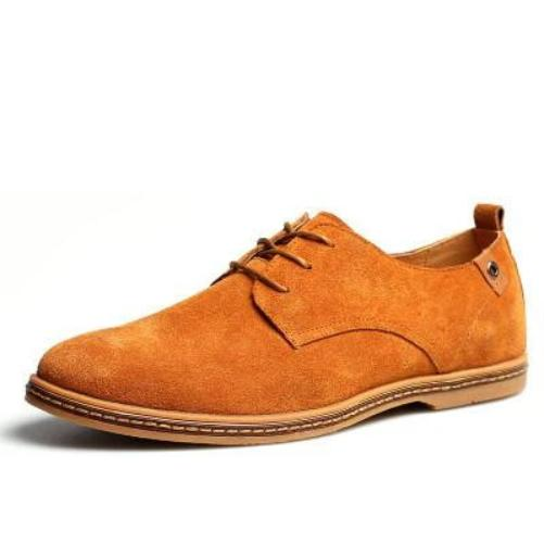 Breathable Leather Shoes (Yellow) | Kwikibuy Amazon Global | Men | Leather | Suede | Shoes
