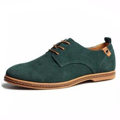 Breathable Leather Shoes (Green) | Kwikibuy Amazon Global | United States | All | Men | Breathable | Leather | Suede | Dress | Shoes