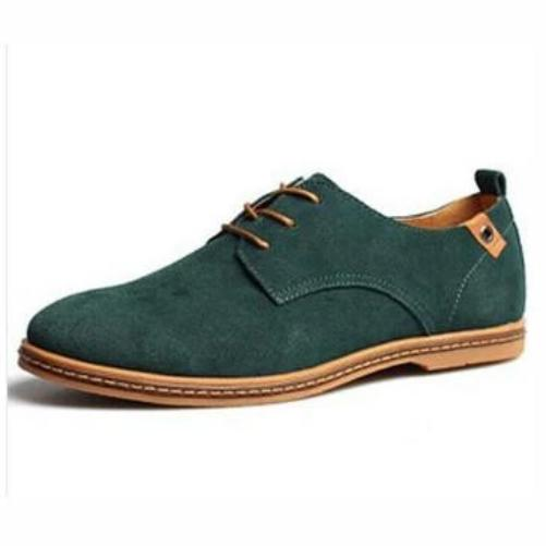 Breathable Leather Shoes (Green) | Kwikibuy Amazon Global | Men | Leather | Suede | Shoes