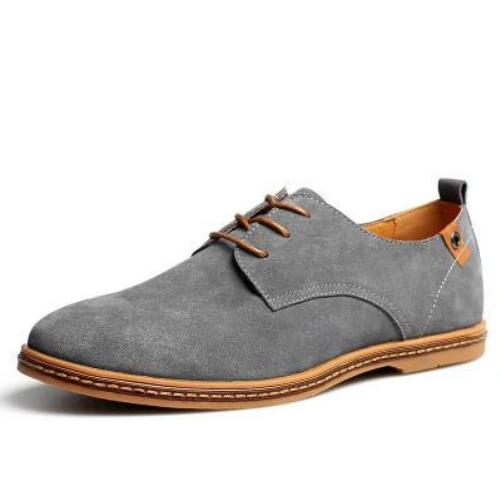 Breathable Leather Shoes (Grey) | Kwikibuy Amazon Global | United States | All | Men | Breathable | Leather | Suede | Dress | Shoes