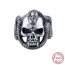 Load image into Gallery viewer, 🍀 925 Sterling Silver Cool Skull Skeleton Ring  - Kwikibuy Amazon Global