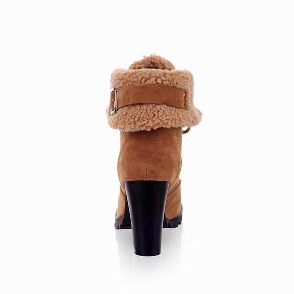 Women's High Heel Snow Boots (Back view) | Kwikibuy Amazon | United States | All | Women | Fashion | Clothing | Boots | Shoes