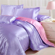 Load image into Gallery viewer, Silk-Satin-Bedding-Quilt-Duvet-Cover-Sets-Lilac  - Kwikibuy Amazon Global