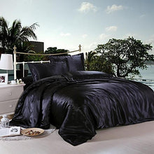 Load image into Gallery viewer, Silk-Satin-Bedding-Quilt-Duvet-Cover-Sets-Blue  - Kwikibuy Amazon Global