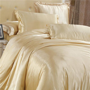 Silk-Satin-Bedding-Quilt-Duvet-Cover-Sets-Black  - Kwikibuy Amazon Global