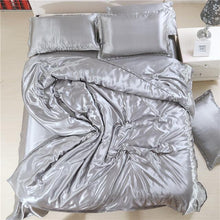 Load image into Gallery viewer, Silk-Satin-Bedding-Quilt-Duvet-Cover-Sets-Plum  - Kwikibuy Amazon Global