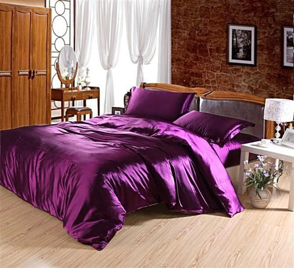 Silk-Satin-Bedding-Quilt-Duvet-Cover-Sets-Cotton-Candy-Pink  - Kwikibuy Amazon Global
