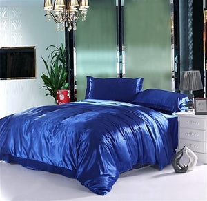 Silk-Satin-Bedding-Quilt-Duvet-Cover-Sets-Cream  - Kwikibuy Amazon Global