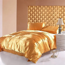 Load image into Gallery viewer, Silk-Satin-Bedding-Quilt-Duvet-Cover-Sets-Cream  - Kwikibuy Amazon Global