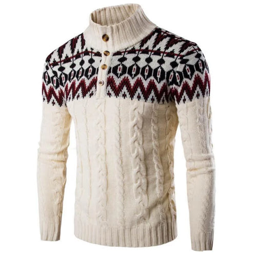 Vintaged Beige Knitted Pullover Sweater  - Kwikibuy Amazon Global