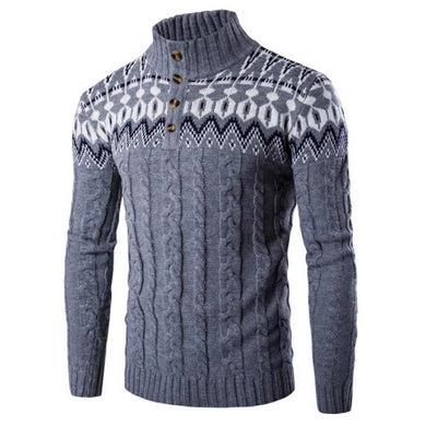Vintaged Dark Grey Knitted Pullover Sweater (4 Colors - 4 Sizes)  - Kwikibuy Amazon Global