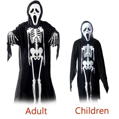 👻 Scary Ghost Skeleton Halloween Costume  - Kwikibuy Amazon Global Online S Hopping Mall Characters: Death Cloak Material: Cotton Size: 3.9 x 2.9 ft.