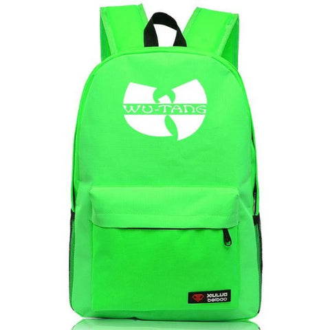 Buy-Now-WU-TANG-Green-Backpack-Kwikibuy.com-School-supplies-Bag