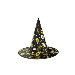 👻 Skull Printed Black Witch Hat For Halloween Costume  - Kwikibuy Amazon Global Online S Hopping Mall Style: Novelty Pattern Type: Print Material: fabric