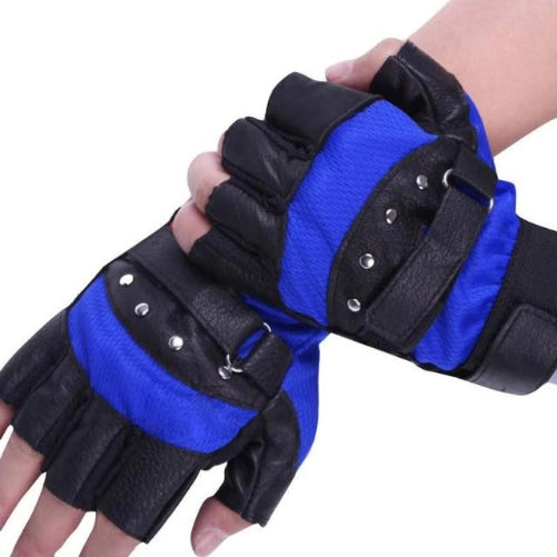 Soft Sheep Leather Riding Gloves (Black and Blue) | Kwikibuy Amazon Global | United States | All | Men | Breathable | Leather | Suede | Gloves | Outerwear