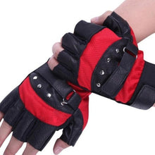 Load image into Gallery viewer, Soft-Sheep-Leather-Riding-Gloves-Black-and-Red  - Kwikibuy Amazon Global