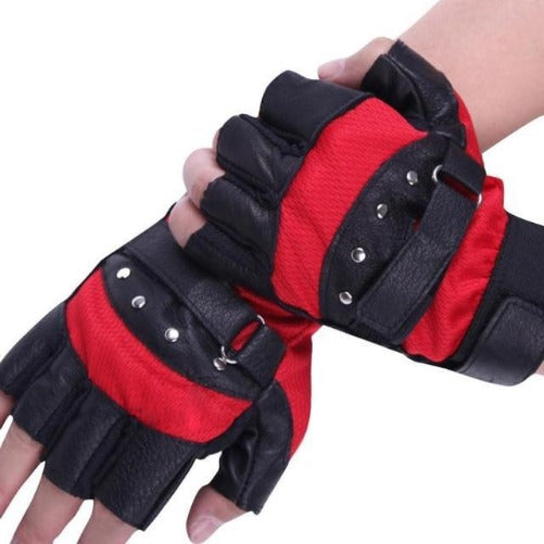 Soft Sheep Leather Riding Gloves (Black and Red) | Kwikibuy Amazon Global | United States | All | Men | Breathable | Leather | Suede | Gloves | Outerwear