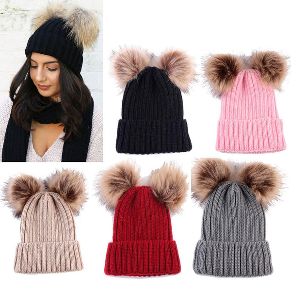 Warm Knitted Pompoms Hat (5 Colors) | Kwikibuy Amazon Global | United States | Girls | women | Winter | hat | cap