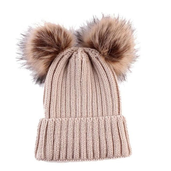 Warm Knitted Pompoms Hat (Beige) | Kwikibuy Amazon Global | United States | Girls | women | Winter | hat | cap