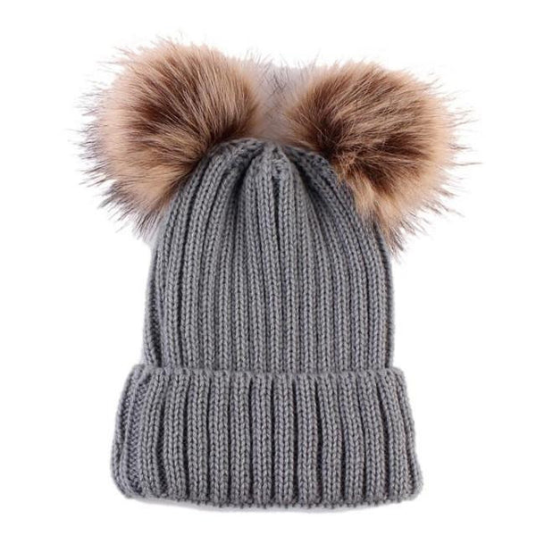 Warm Knitted Pompoms Hat (Grey) | Kwikibuy Amazon Global | United States | Girls | women | Winter | hat | cap