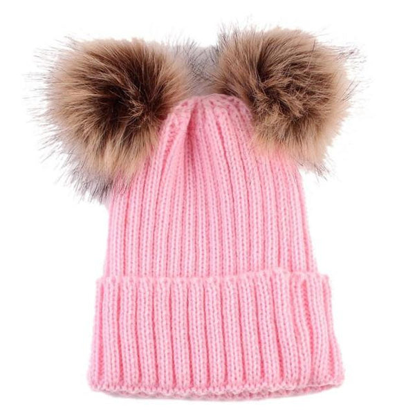Warm Knitted Pompoms Hat (Pink) | Kwikibuy Amazon Global | United States | Girls | women | Winter | hat | cap