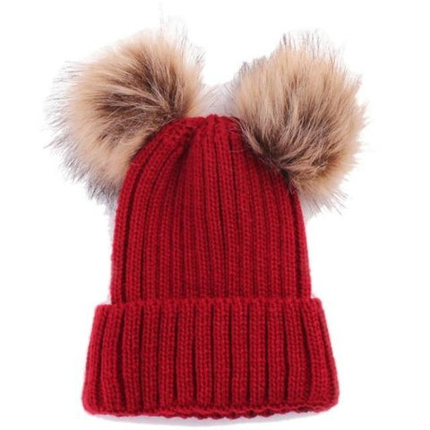 Warm Knitted Pompoms Hat (Red) | Kwikibuy Amazon Global | United States | Girls | women | Winter | hat | cap