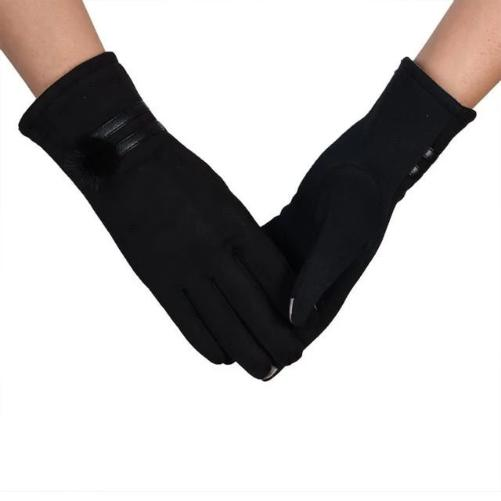 Soft and Warm Sheepskin Gloves (Black) | Kwikibuy Amazon | United States | All | Women | Outerwear | Gloves | Mittens | Autumn | Winter | iPhone
