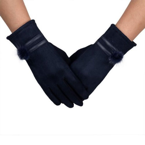 Soft and Warm Sheepskin Gloves (Blue) | Kwikibuy Amazon | United States | All | Women | Outerwear | Gloves | Mittens | Autumn | Winter | iPhone