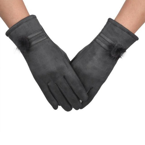 Soft and Warm Sheepskin Gloves (Grey) | Kwikibuy Amazon | United States | All | Women | Outerwear | Gloves | Mittens | Autumn | Winter | iPhone