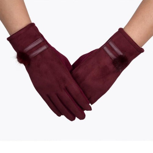 Soft and Warm Sheepskin Gloves (Red) | Kwikibuy Amazon | United States | All | Women | Outerwear | Gloves | Mittens | Autumn | Winter | iPhone