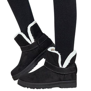Suede-Ankle-Platform-Boots-Black  - Kwikibuy Amazon Global