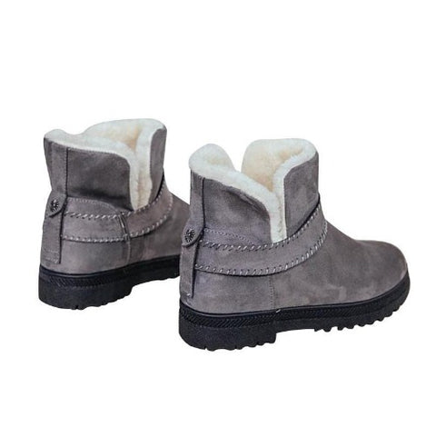 Suede-Ankle-Platform-Boots-Grey  - Kwikibuy Amazon Global