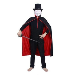 👻 Masquerade Party Double-sides Black And Red Cloak  - Kwikibuy Amazon Global Online S Hopping Mall Size: 2.9 ft/90 cm or 4.5 ft/140 cm Material: Non-woven
