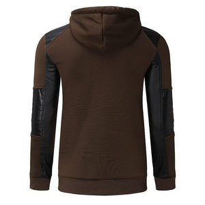 Leather Stitching Sweatshirt Hoody (Army Green)  - Kwikibuy Amazon Global