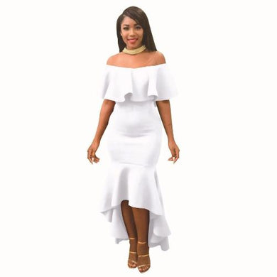 Off The Shoulder Strapless Bodycon Dress (White)  - Kwikibuy Amazon Global