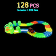 Load image into Gallery viewer, Glow Flexible Race Track Set with Bridge or Tunnel & Car/s  - Kwikibuy Amazon Global